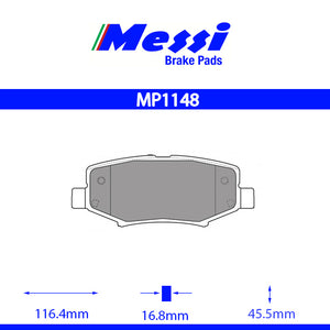 Messi Rear BrakePad-dodge  2007- 3.7 V6 4WD - MP1148