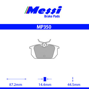 Messi Rear BrakePad-alfa romeo  1994-95 2.0 16V  T. SPARK - MP350