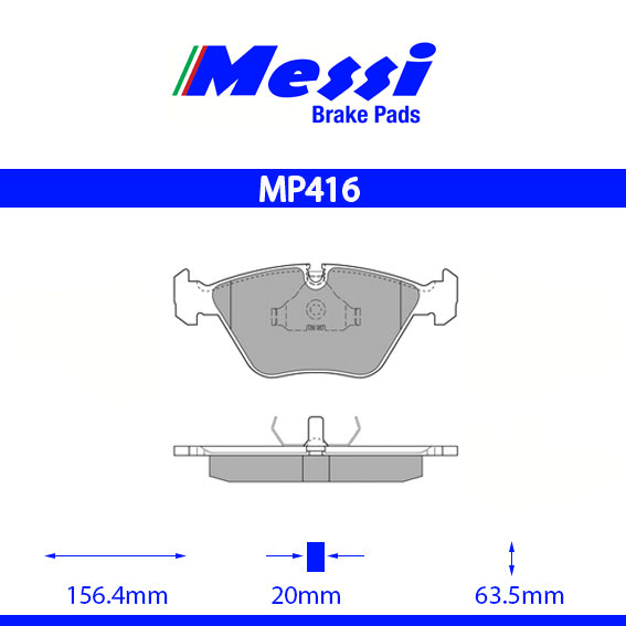 Messi Front BrakePad-bmw 1992-1995 M3 3.0 - MP416