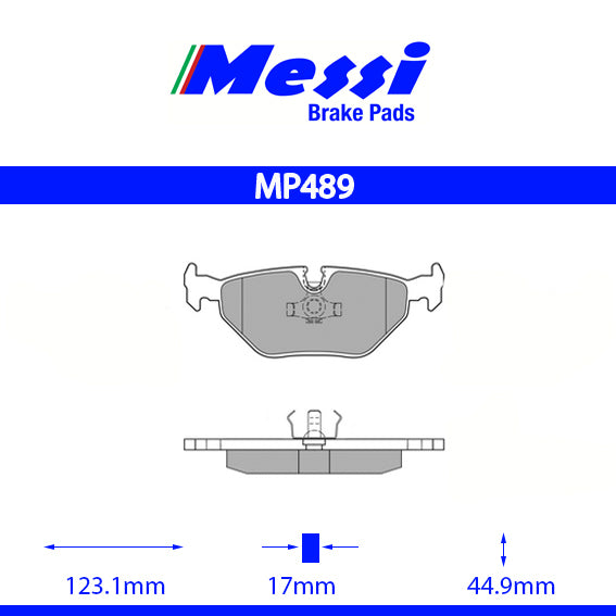 Messi Rear BrakePad-bmw 1992-1995 M3 3.0 - MP489