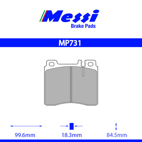 Messi Front BrakePad-mercedes benz 1993-1998 280 - MP731