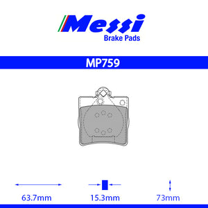 Messi Rear BrakePad-chrysler 2003-2007 3.2 - MP759