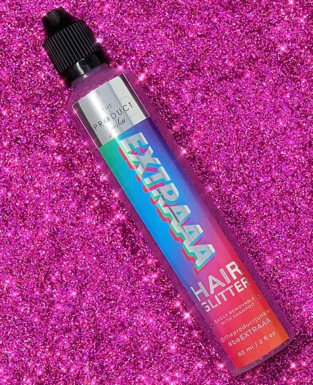 EXTRAAA Hair Glitter in Clueless Pink - Trademark Beauty