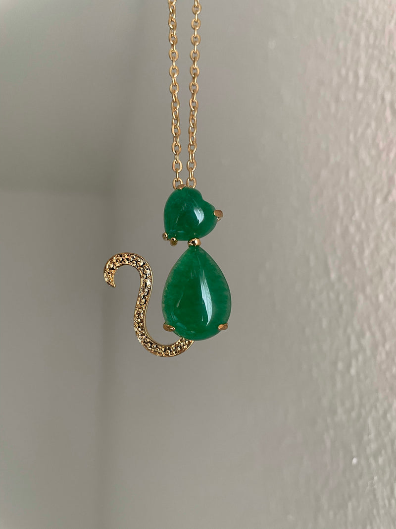 Jade Cat Necklace