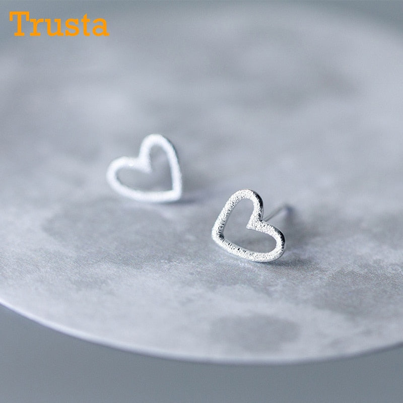 Hollow Heart Stud Earrings