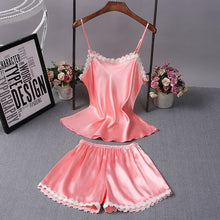 Two Piece Set  Silk Pajamas