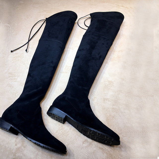 Thigh high boots slim style