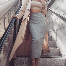 Sexy Split Knitted Skirt