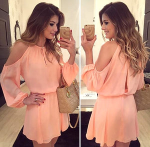 Casual style sweet Chiffon summer dress