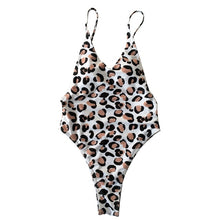 Sexy One Piece Swimsuit Leopard Print