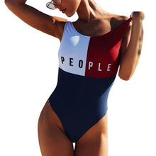 Patchwork One Piece Swimsuit