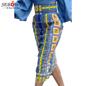 Stylish African Print High Waist Pencil Skirt