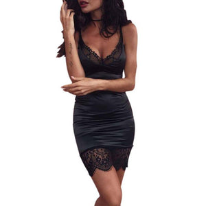 New  Lace Slim Mini Dress