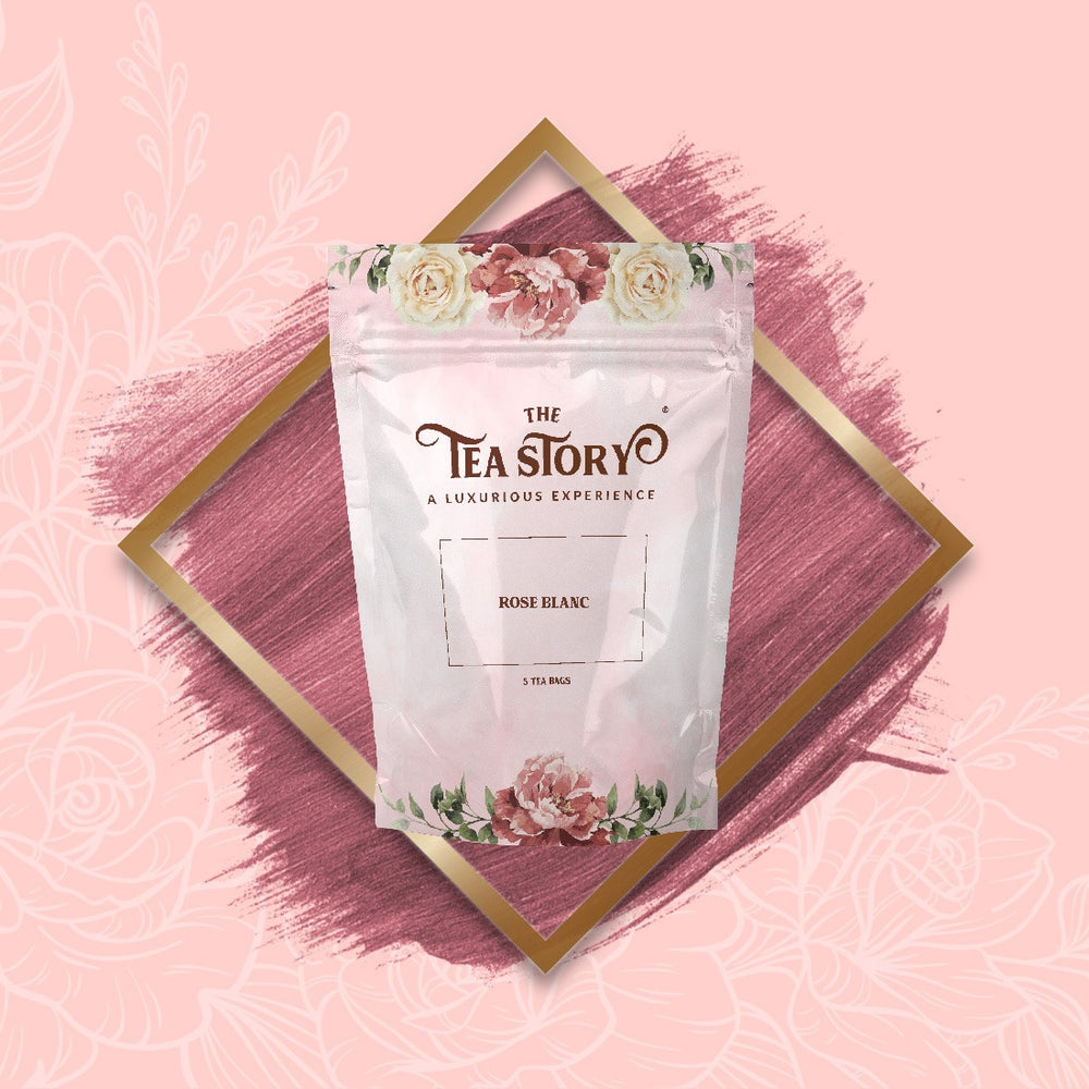 The Tea Story Rose Blanc Tea Pouch