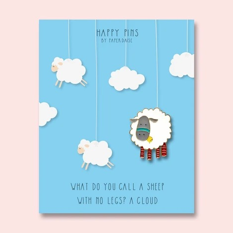 Sheep Is A Cloud With No Legs Enamel Pin