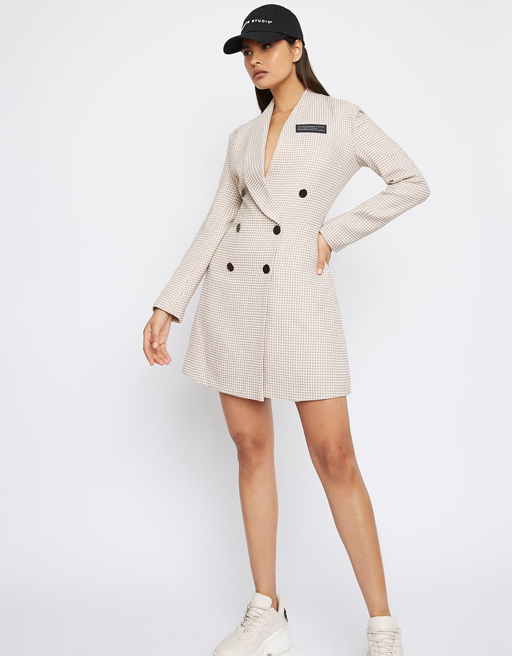 The 'DEACTIVATE' Houndstooth Blazer Dress