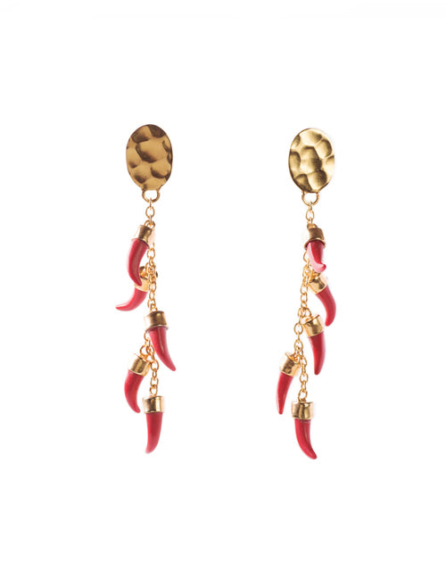 Chile Earrings (Brass Gold)