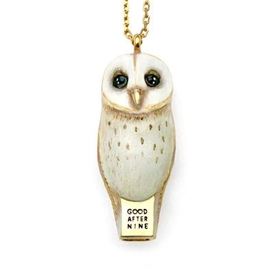 Lucky Barn Owl Whistle Necklace