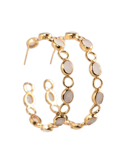 Naxos Small Loops (Gold/White)
