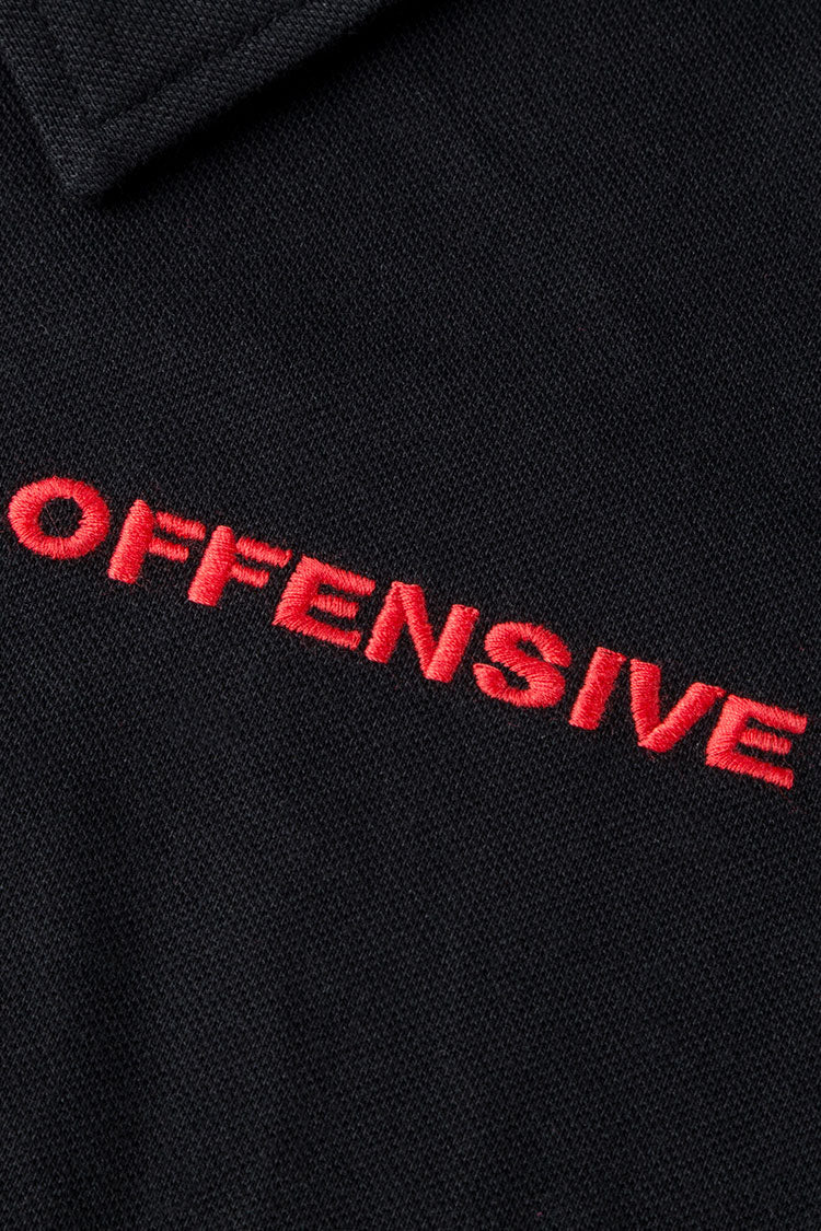 Polo (Black w. Red Embroidery)