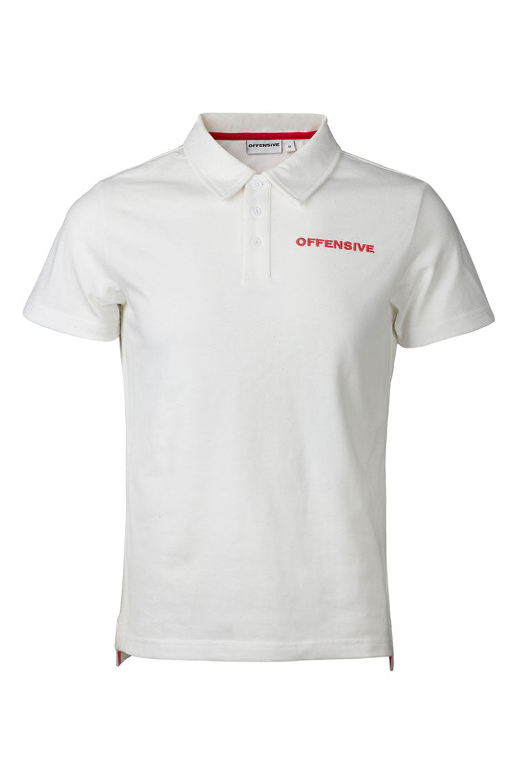 Polo (White w. Red Embroidery)