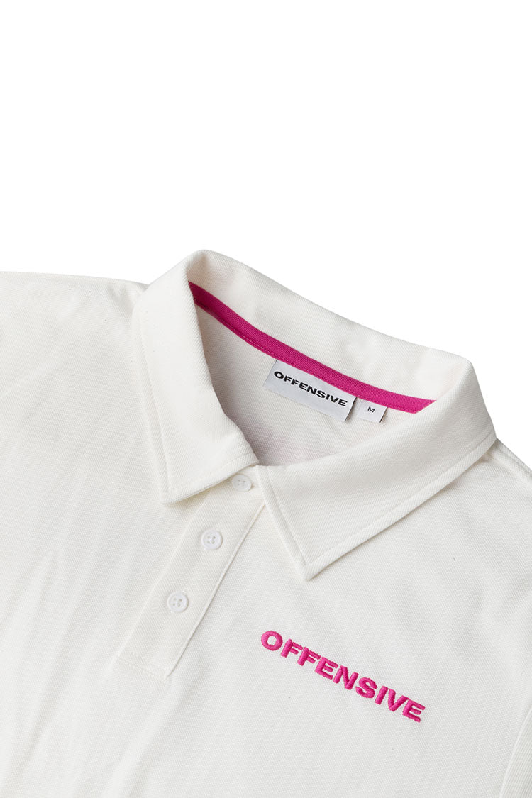 Polo (White w. Pink Embroidery)