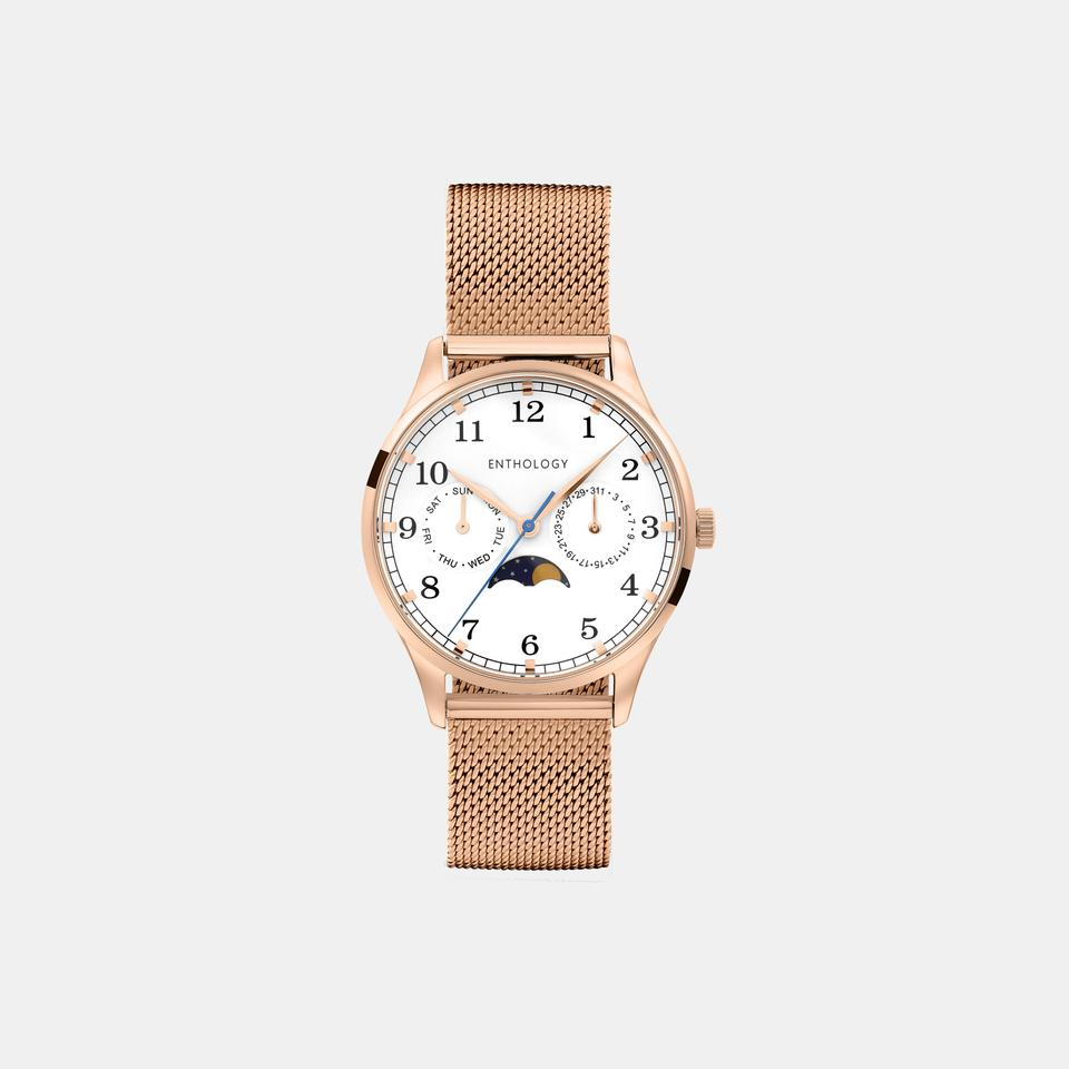 Purple Lightsticks | Rose Gold Women's Watch w/ Milanese Mesh