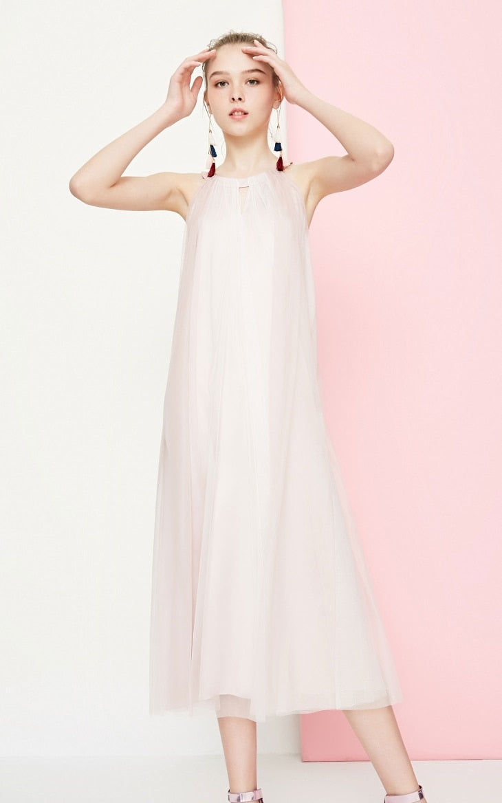 Sundress Gauzy Splice Maxi Dress
