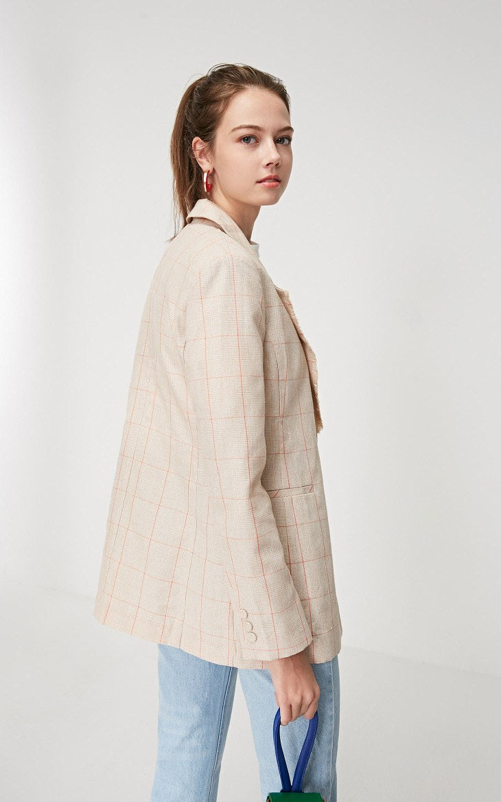 VM Plaid Blazer