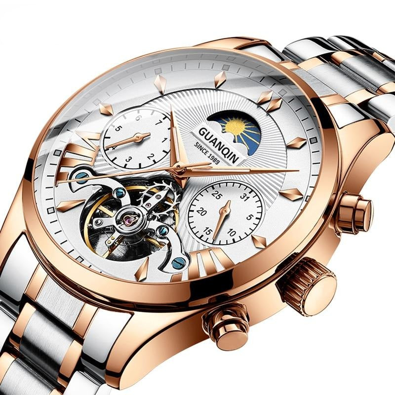 GUANQIN Automatic Tourbillon Men Watch
