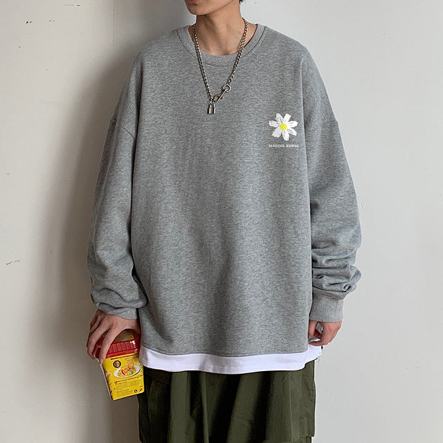 Flower Series II Oversized Graphic Pullover