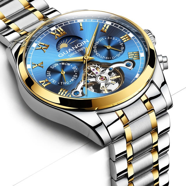 GUANQIN Hollow Tourbillon Mechanical Watch