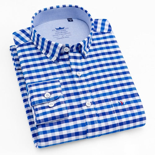 MQ Oxford Plaid Stripes Shirt