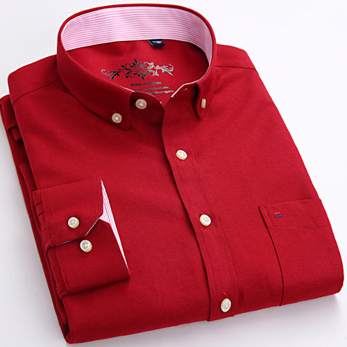 MQ Solid Oxford Long Sleeve Shirt