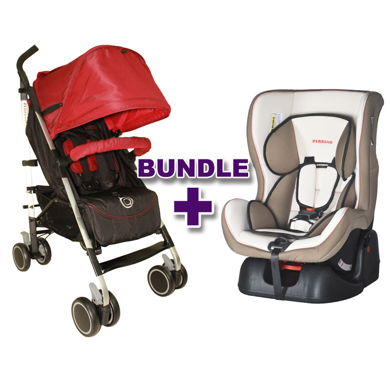 Stroller Occasionel Red + Car Seat Safies White