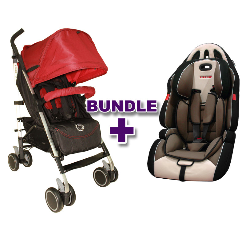 Stroller Occasionel Red + Car Seat Sportee White