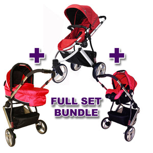 Stroller Versatile II Sport Red + Carry Cot Versatile II Red + Carrier Versatile II Red