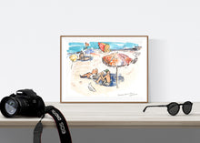 Load image into Gallery viewer, The retro parasol on Tamarama Beach