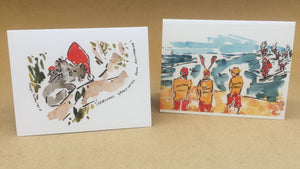 Pack of 4 B de Tarlé ART Christmas Cards