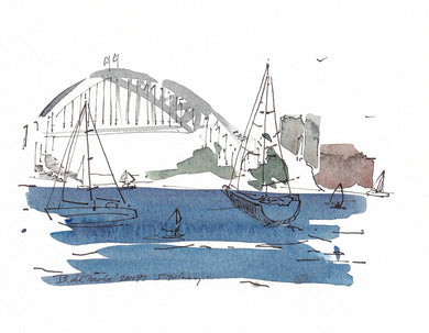 Sydney Harbour Bridge Deep Blue Boats