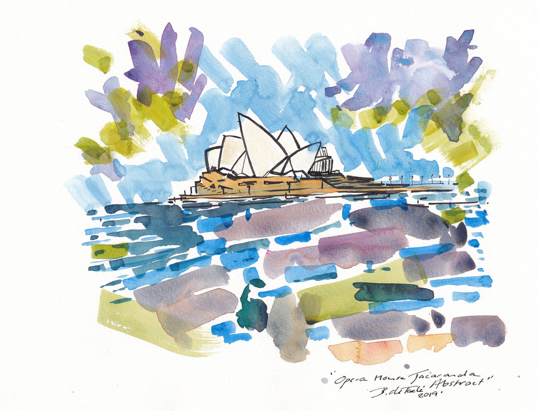 Sydney Opera House Jacaranda Abstract