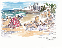 Load image into Gallery viewer, Bondi Beach hibiscus sun tent with girls