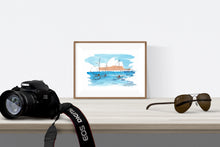 Load image into Gallery viewer, Old gaffer sailing boats in front of the Sydney Opera House