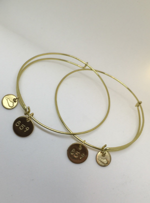 Customizable Area Code Charm Bracelet