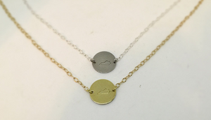 Kentucky Disc Necklace