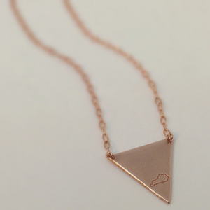 Hand Stamped Kentucky Triangle Necklace