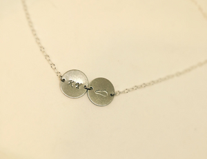 Hand Stamped Silver Kentucky Disc Necklace