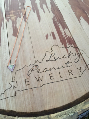 Layered Metals Kentucky Triangle Necklace