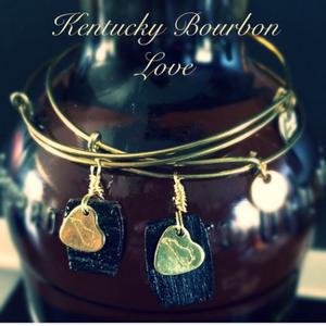 Kentucky Bourbon Barrel Bracelet w/ Copper Coin State Charm