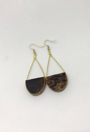 Kentucky Whiskey Bourbon Barrel Teardrop Earrings